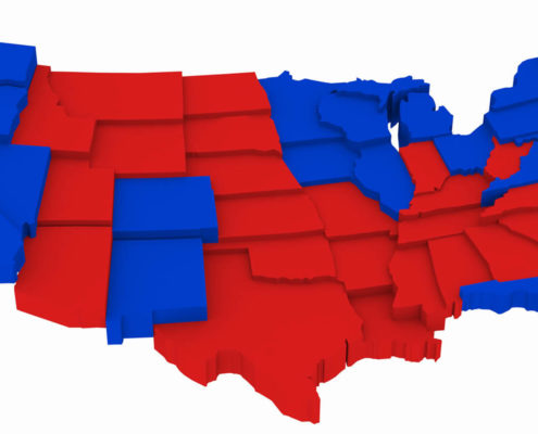 red and blue states
