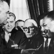 civil rights act_LBJ-MLK
