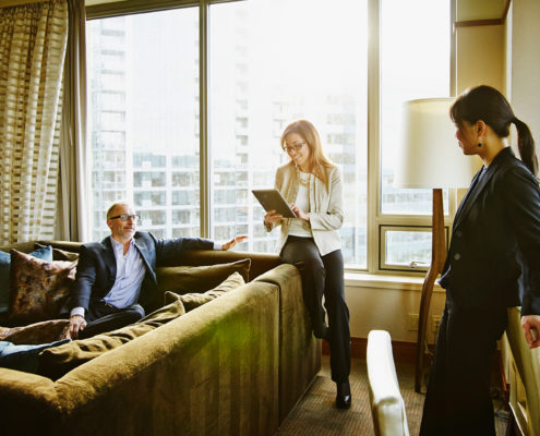 hotel suite business meeting