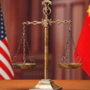 USA China flags law