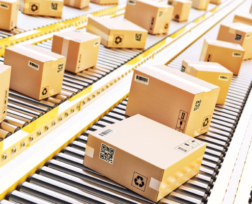 packages conveyor belt