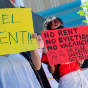 renters protest