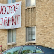 cancel rent eviction banners