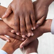 black professional hands
