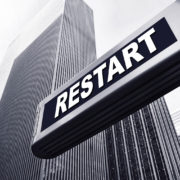 office building restart sign