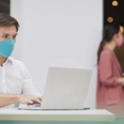 office workers facemasks