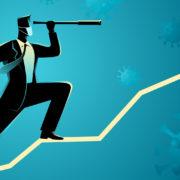 businessman graph COVID-19