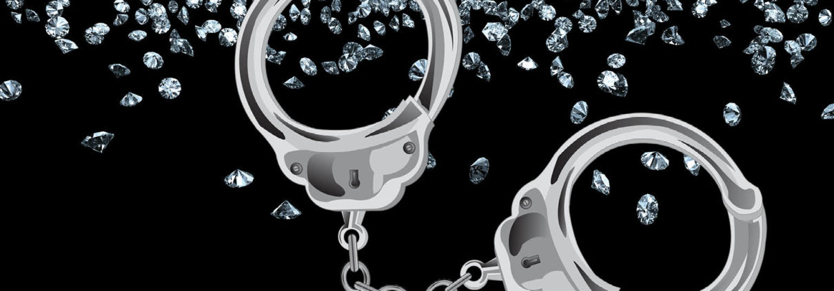 handcuffs and diamonds