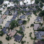 flooded homes