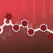 corona virus downward graph