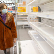 grocery shopping in mask