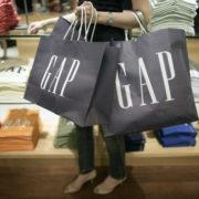 Gap shopper shopping bags