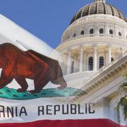 california state capitol flag
