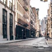 New York city empty streets