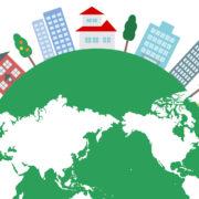 cityscape world map