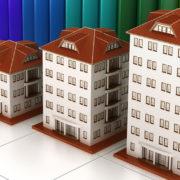 apartment buildings row