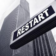 office building restart sign