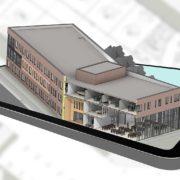 tablet rendering building