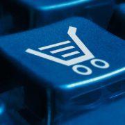 shopping cart on keyboard