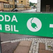 charge car sign sweden