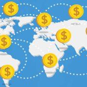 world map money