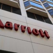 Marriott hotel sign