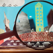 magnifying glass city