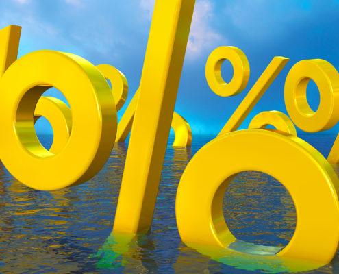percent symbols water